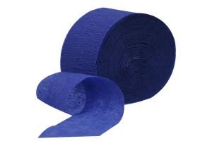 """""""Crepe"""" popierius, mėlynas, rulonas, 5cm x20 m."""