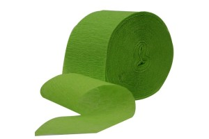 Crepe Paper Streamers, light green, 5 cmx20 m., light blue, CR20892