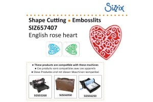 Sizzix Embosslits die English rose heart, VSIZ6576407