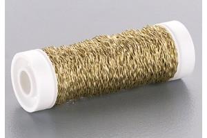 Elastinė, guterman dekoratyvinė viela, auksinės spalvos, 0,3 mmx50 m., 6437699