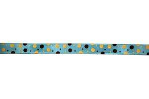 Juostelė matuojama, grosgrain, polka, 10  mm., 1 metras, CH0004