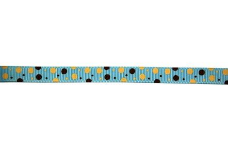 Juostelė matuojama, grosgrain, polka, 10  mm., 1 metras, CH0003