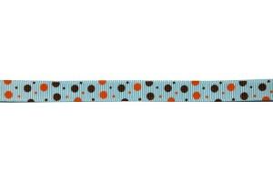 Grosgrain ribbon, polka, 10 mmx 1 m., CH0006