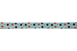Juostelė matuojama, grosgrain, polka, 10  mm., 1 metras, CH0006