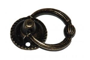Rankenėlė didelė antikinis auksas 3,2x5,1 cm. 1720