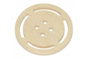 Wooden button 4x4 cm. RD3-4