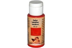 Fabric paint 30 ml. (red)