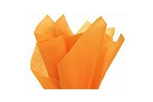 Tissue paper, orange, 50x70 cm.,13 pcs.,F