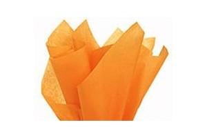 Tissue šilko popierius,  50x70 cm., 13 vnt., oranžinė, F