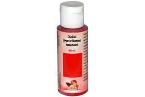 Paint For Glass, for porcelain 60 ml. (red)