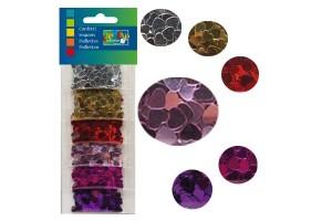 Confettino's mix, assorted colours, 5 mm.,  heart , V1619-903