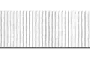 """Balta juostelė, """"grosgrain"""", 6 mm., 1 metras, 00817"""