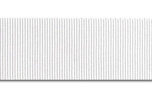 """White ribbon """"grosgrain"""", 6 mm., 1 metre, 00817"""