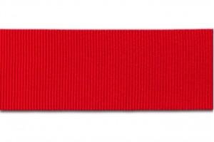 """Raudona  juostelė, """"grosgrain"""", 6 mm., 1 metras, 00824"""