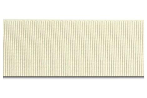 """White ribbon """"grosgrain"""", 9 mm., 1 metre,  00841"""