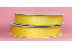 "Geltona juostelė, ""grosgrain"", 9 mm., 1 metras, 00855"