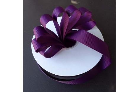 """Plum  ribbon """"grosgrain"""", 9 mm., 1 metre,  010227"""