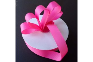"Electric pink  ribbon ""grosgrain"", 9 mm., 1 metre, 010228"