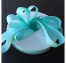 """Aqua  ribbon """"grosgrain"""", 9 mm., 1 metre, 010230"""