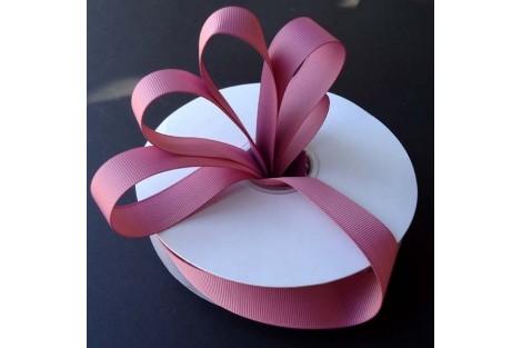 "Rosy mauve  ribbon ""grosgrain"", 9 mm., 1 metre, 010231"