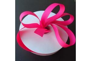 """Karmininė rožinės spalvos  juostelė, """"grosgrain"""", 9 mm., 1 metras, 010234"""
