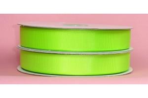 "Obuolio žalia juostelė, ""grosgrain"", 16 mm., 1 metras, 00888"