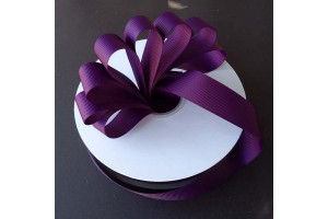 "Plum  ribbon ""grosgrain"", 16 mm., 1 metre, 010327"