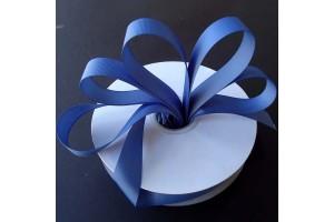 """Dūmo mėlynos spalvos juostelė, """"grosgrain"""", 16 mm., 1 metras, 010332"""