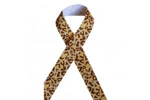"Leopardinė rusva juostelė, ""grosgrain"", 16 mm., 1 metras, 090909"