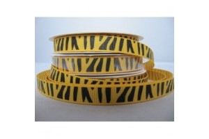 "Zebra yellow  ribbon ""grosgrain"", 16 mm., 1 metre, 99999"