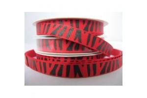 "Zebra red ribbon ""grosgrain"", 9 mm., 1 metre, 101010"