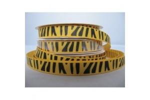 "Zebra yellow ribbon ""grosgrain"", 9 mm., 1 metre, 101010"
