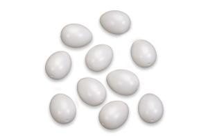 Plastic egg pack, 10 pcs., white, 60 x 45 mm.