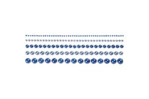 Klijuojami perliukai,2 - 8 mm., mėlyni, CR28317