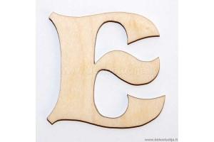 Medinė raidė E (3 cm)