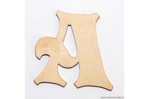 Medinė raidė A (3 cm)