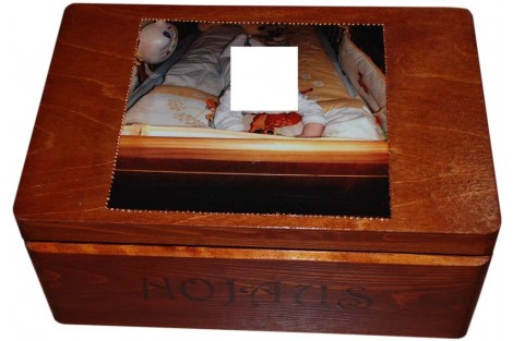 "Christening box, 35x24x15 cm., ""fairy"""
