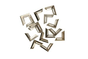 Metal corner, 19x19x4 mm., silver color, 1 pcs. CR58012