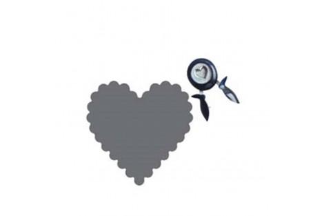 Skylamušis, fiskar, širdelė, 33x35 mm., CR3777