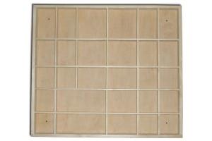 Dėžutė-lentynėlė su skyreliais 44,5x40x3,5 cm.