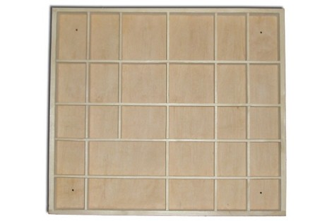 Box-tray with compartments 44.5x40x3.5 cm DWZ0492
