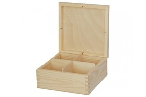 Box for tea 4 section without lock 1144