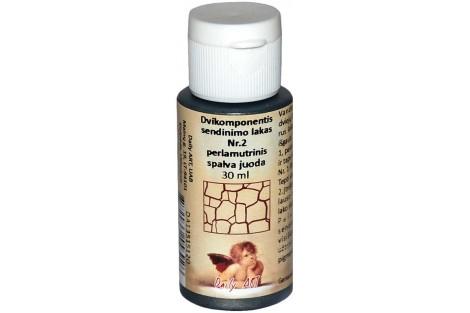 Dvikomponentis sendinimo lakas Nr.2 perlamutrinis spalva (lašišos) 30 ml.