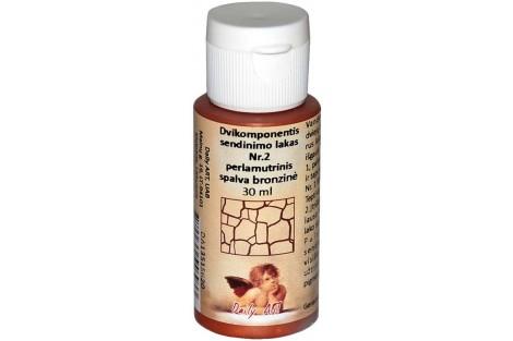 Dvikomponentis sendinimo lakas Nr.2 perlamutrinis spalva (juoda) 30 ml.