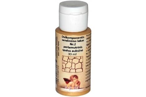Dvikomponentis sendinimo lakas Nr.2 perlamutrinis spalva (bronzinė) 30 ml.