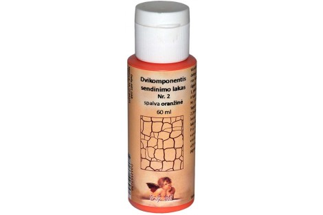 Dvikomponentis sendinimo lakas Nr.2 spalva (oranžinė) 30 ml.