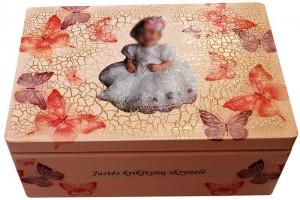 Prisiminimų dėžutė su nuotrauka  32x21x13,5 cm.