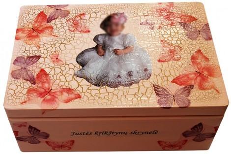 Prisiminimų dėžutė vintažinė 32x21x13,5 cm.