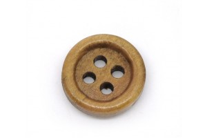 Coffee 4 Holes Wood Sewing Buttons Scrapbooking 15mm 8SB10382