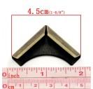 Metal corner, 16x16x4mm.,antique bronze color, 1 pcs., 8SB21715
